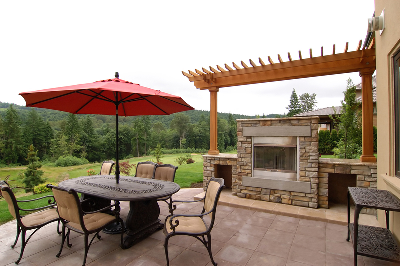 Outdoor Fireplace Design Installation Davel Construction