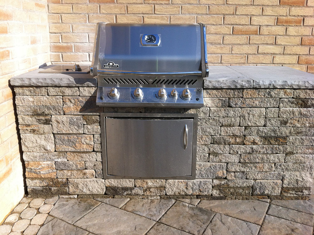 Outdoor Kitchens Stone Bbq Design Davel Construction