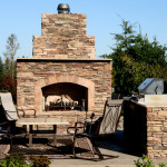 Natural Stone Fireplace - Davel Construction
