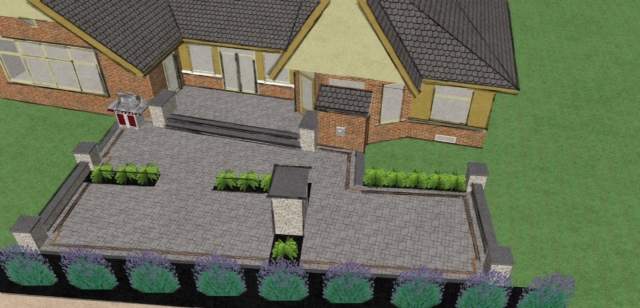 3d landscape design davel construction for Architect 3d home landscape design