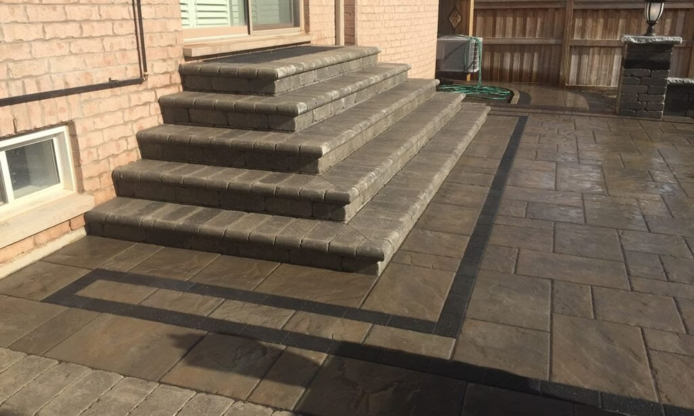 Stone step installed by Davel