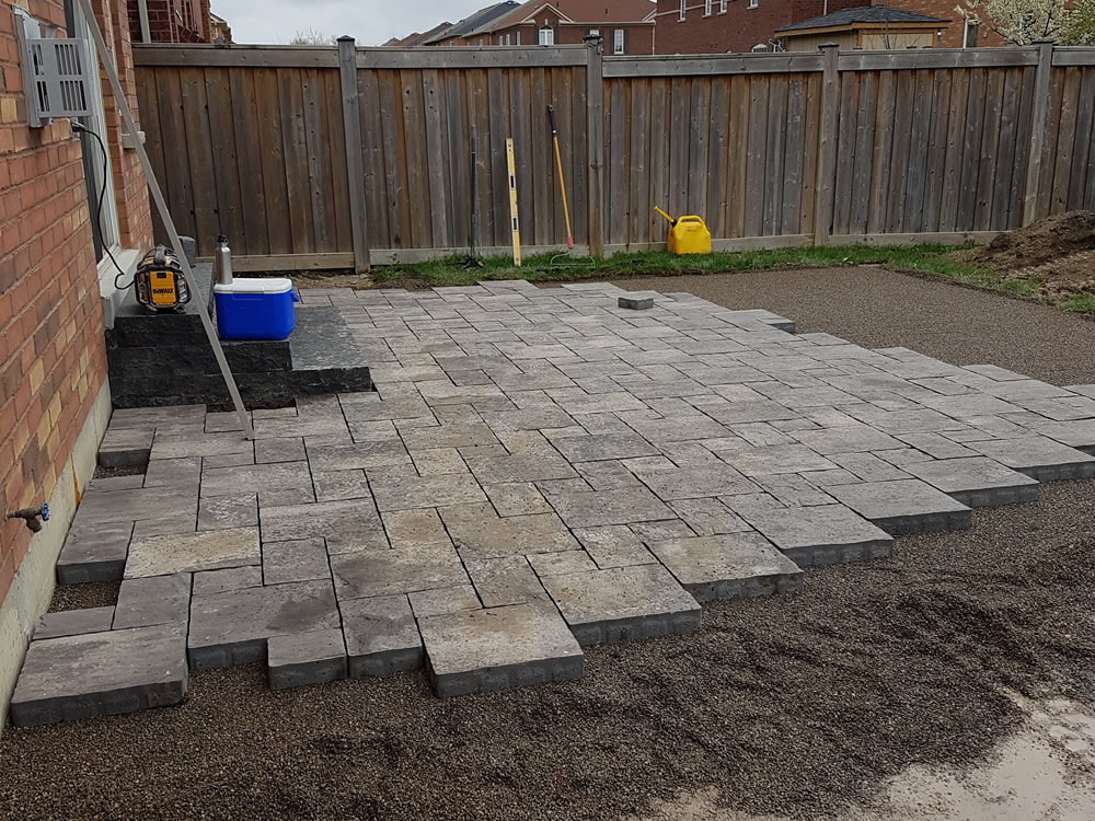 Upper Canada Court stone patio