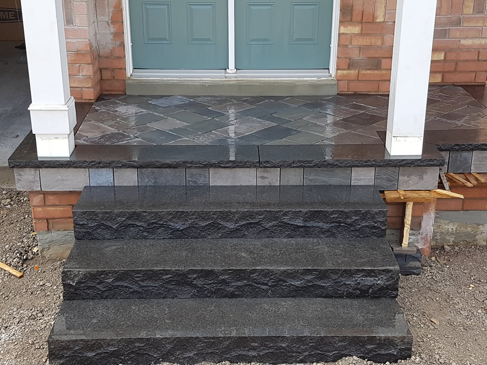 Upper Canada Court completed front step and entrance