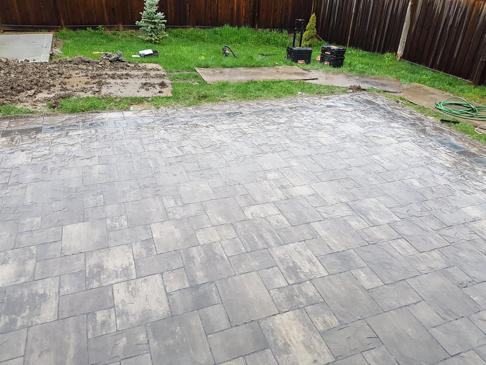 Upper Canada Court completed back patio