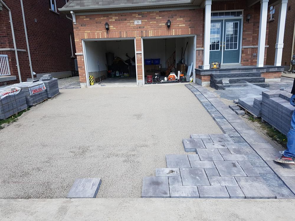 Upper Canada Court driveway stonework