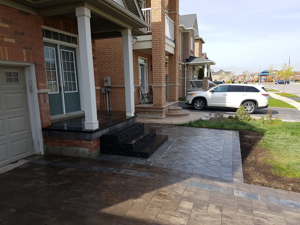Upper Canada Court completed front step
