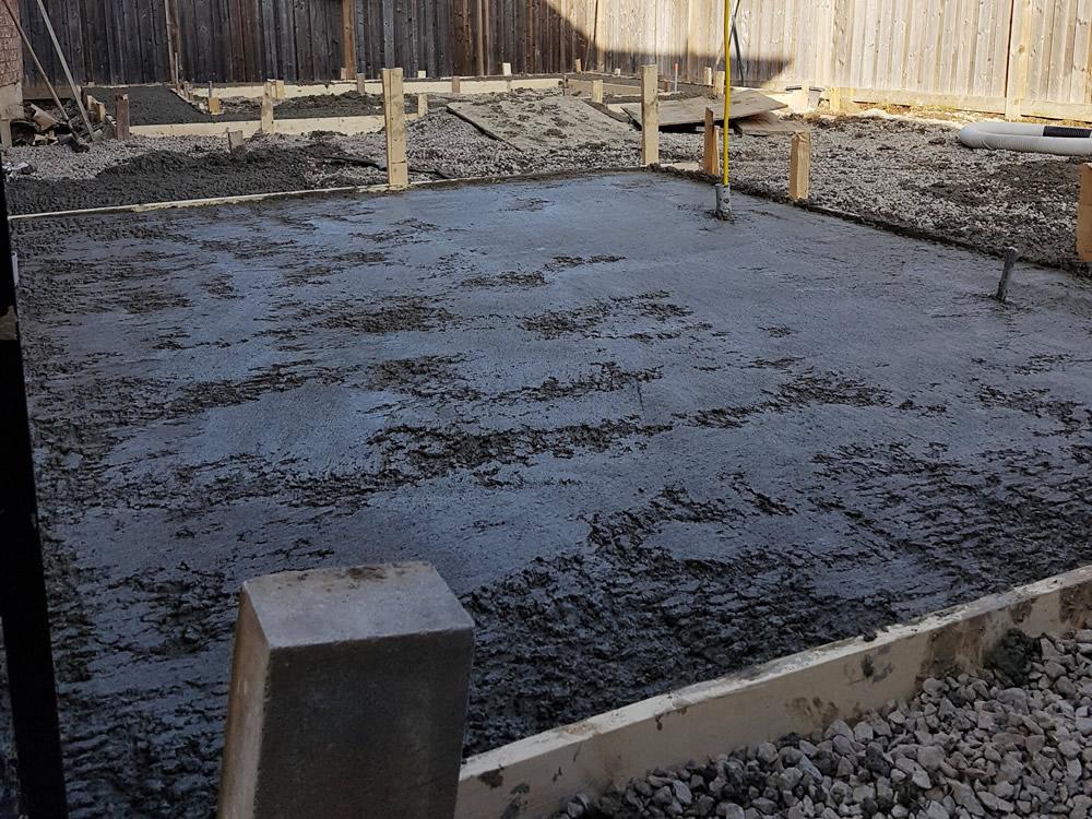 Dimarino Drive Patio concrete pour