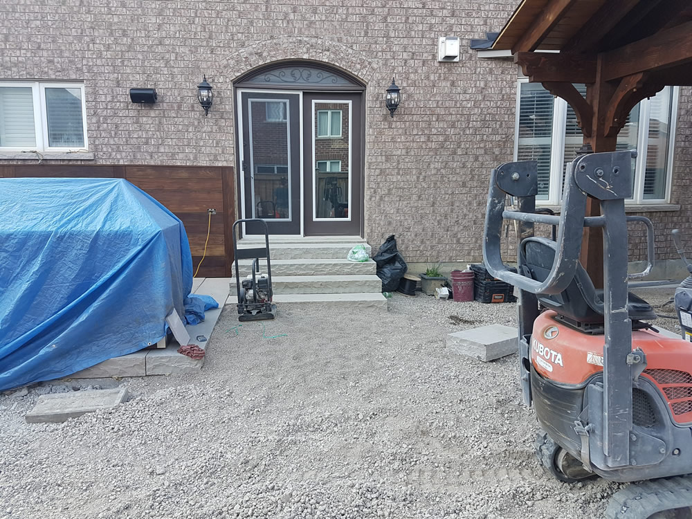 Dimarino Drive Patio, outdoor kitchen early construction