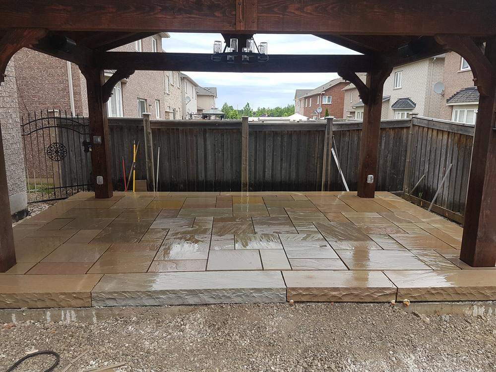 Dimarino Drive stone patio