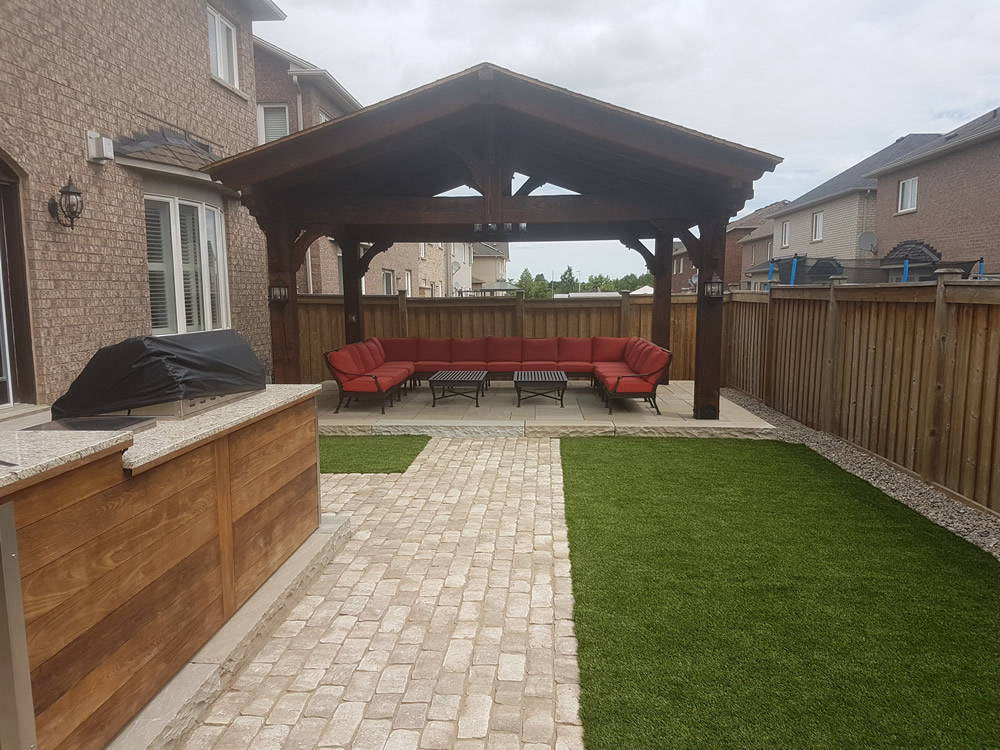 Dimarino Drive Patio, outdoor kitchen completed construction