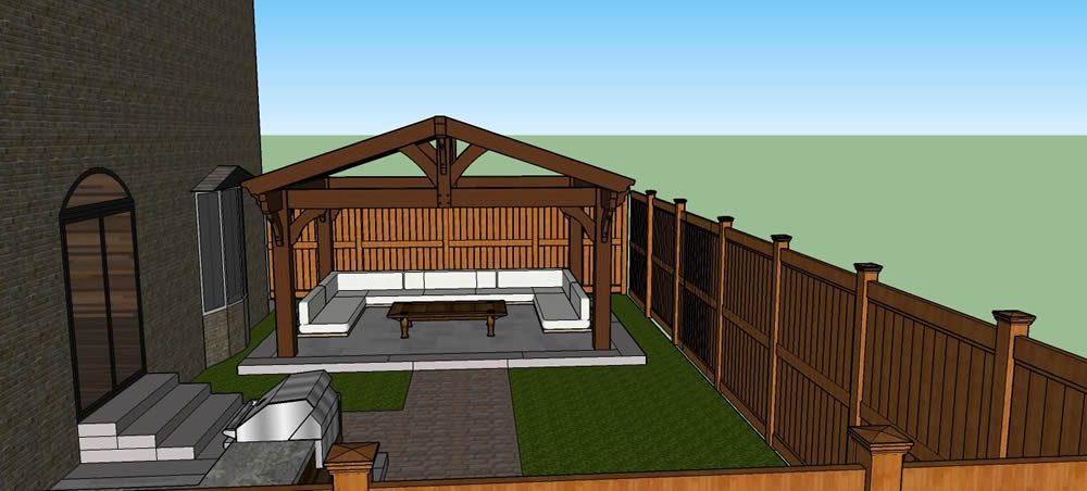 Dimarino Drive Patio, outdoor kitchen 3D plans