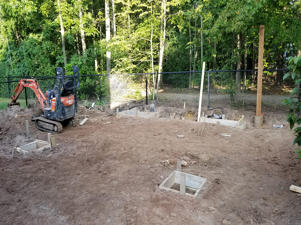 Forestview Trail Patio Construction