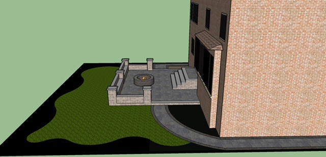 Impulse Circle 3D design backyard side view