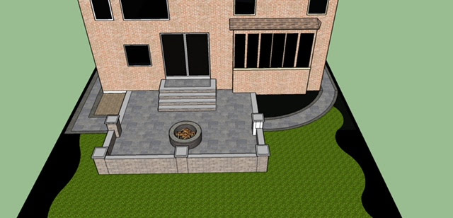 Impulse Circle 3D design backyard
