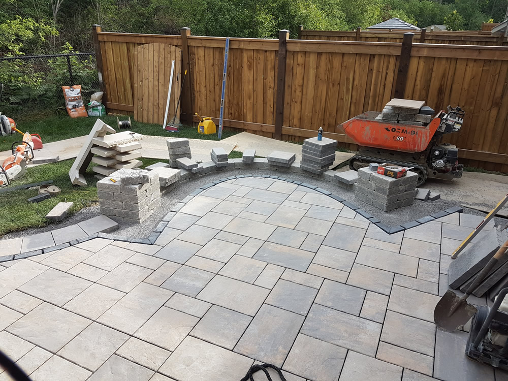 Upper Canada Ct. patio construction