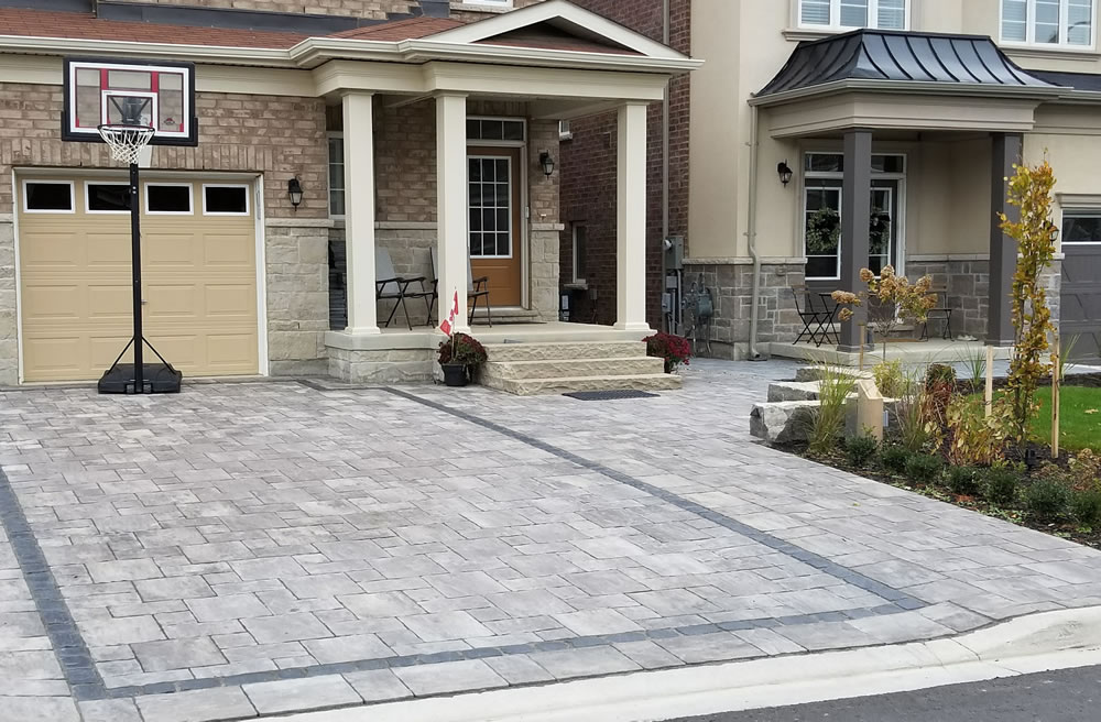 Beautiful stone driveway installed by Davel