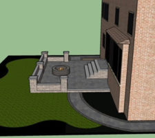 Plans for backyard patio installed by Davel Construction
