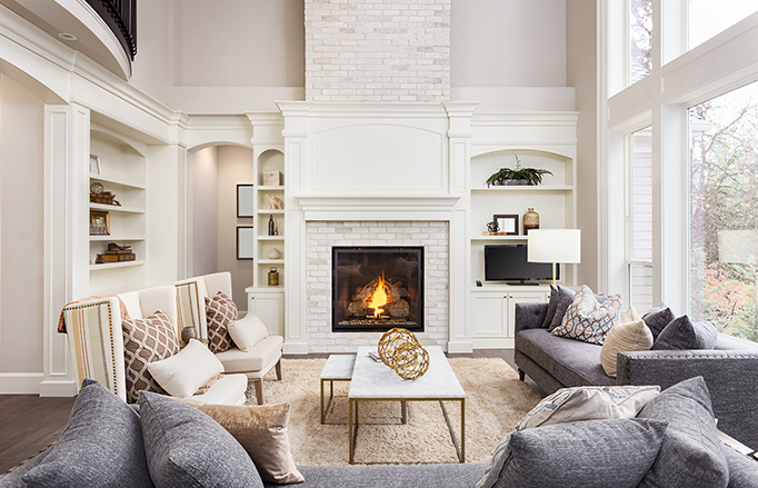 fireplace and mantel installation